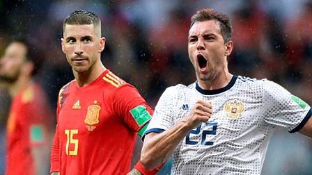 7月1日世界杯1/8决赛 西班牙vs俄罗斯 录像 集锦