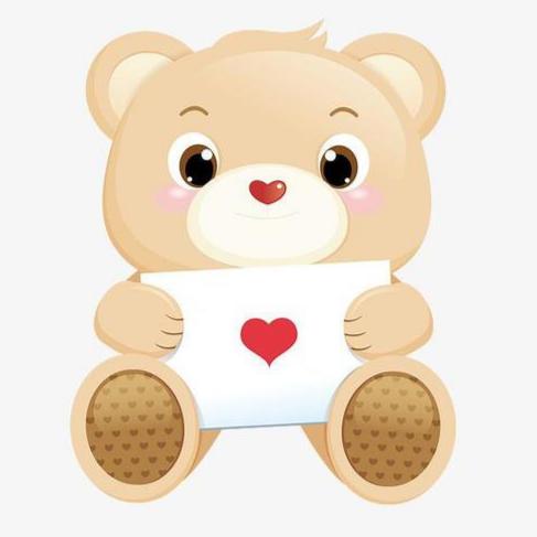 可爱熊玩具