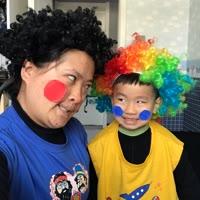 搞笑的母子俩